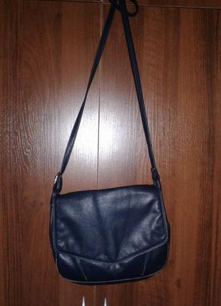 Кожаная сумка кросс боди, с длинной ручкой pachanga