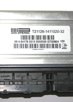Блок управления инжектор 21126 Январь 7.2+ (8 кл. 1.6) Евро-3 ...