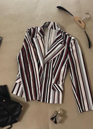Пиджак в полоску из плотной ткани под джинс !