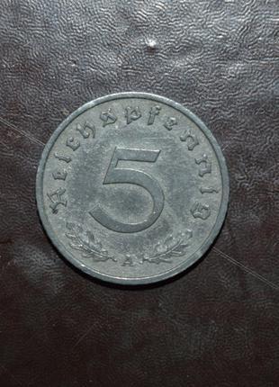 Германия 5 Рейхспфеннигов 1942год. А
