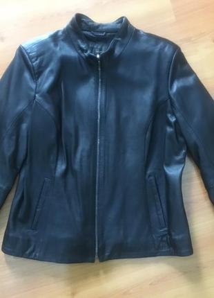 Новая кожаная классическая куртка на змейке под горло -турция !!