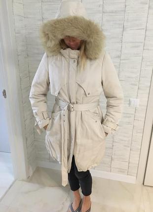 Качественная тёплая куртка пуховик можно для беременных!