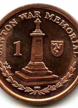 Монета Остров Мен 1 пенн, 2008 год, (В)