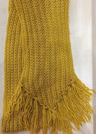 Яркий тёплый шарф желтого цвета !