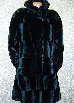 Двусторонняя шуба-пальто из эко-меха 52\54 р