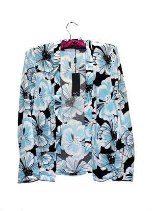 M&co. кардиган с карманами в цветочном принте. наш размер 42.