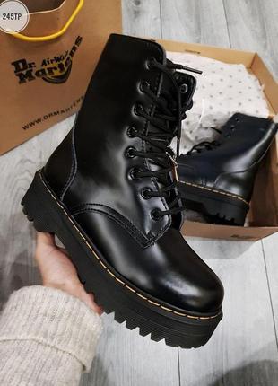 🌹dr. martens jadon black🌹женские зимние ботинки мартинс, чёрны...