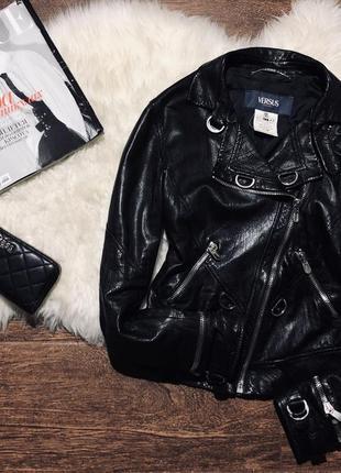 Шикарная куртка косуха из натуральной кожи лучшей коллекции бр...