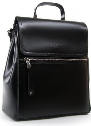 Великий жіночий шкіряний рюкзак