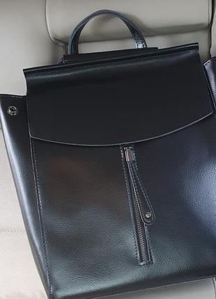 Жіночий шкіряний рюкзак-сумка