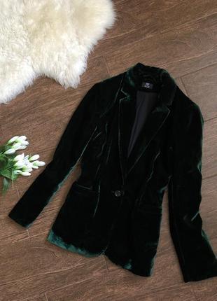 Шикарный бархатный пиджак большого размера