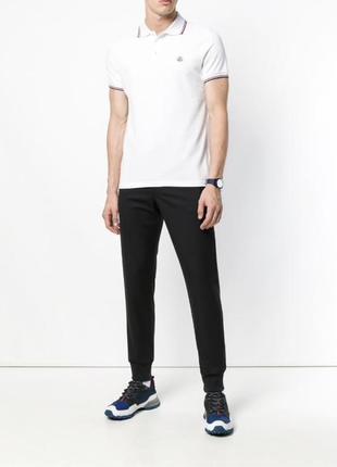 Белая футболка поло от moncler оригинал