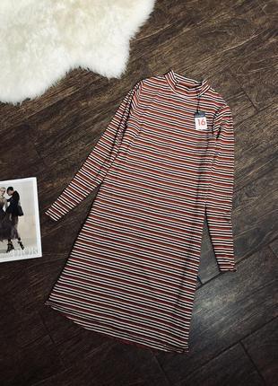 Очень удобное полосатое трикотажное платье