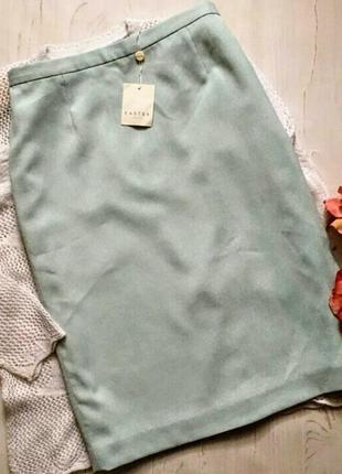 🐦1+1=3 юбка карандаш нежно бирюзового цвета🐦