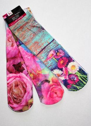 Набор 3 пары. носки из качественной микрофибры с 3d принтом , ...