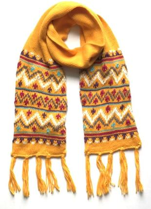 Красивый тёплый двойной детский шарф takko fashion.