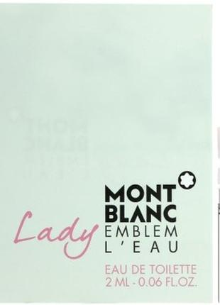 Montblanc lady emblem l'eau туалетная вода (пробник), 2 ml, ор...