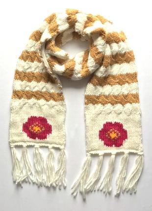 Очень теплый двойной детский шарф на флисовой подкладке takko ...
