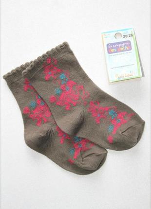 Детские коттоновые носочки, премиум качество, франция. 3-4 лет.