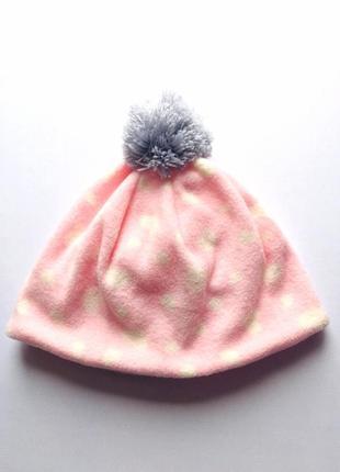 Детская шапочка для девочки, двойной флис, демисезон, takko fa...