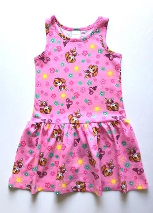 Трикотажное коттоновое летнее детское платье, сарафан, paw pat...