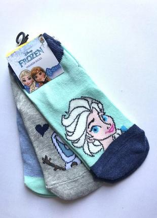 Комплект 3 пары. коттоновые укороченные цветные носки, носочки...