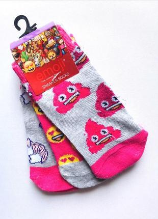 Комплект 3 пары. коттоновые укороченные  носки, носочки emoji®...