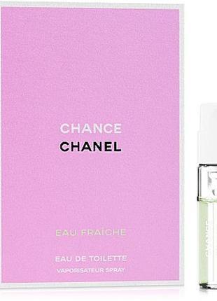 Chanel chance eau fraiche, еdt, пробник, 1,5 мл, оригинал.