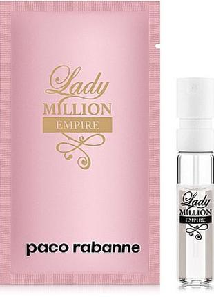 Paco rabanne lady million empire,edp, пробник 1,5 ml, оригинал...