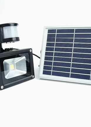 LED Прожектор 10w с датчиком движения на солнечной батареи