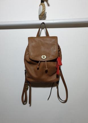 Кожаный рюкзак coach натуральная кожа.