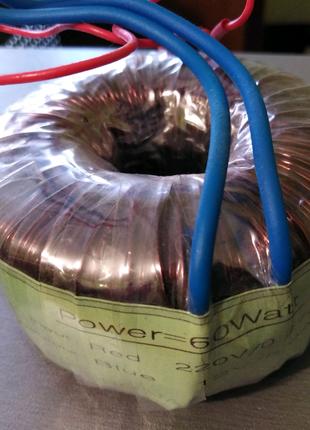 Трансформатор тороидальный 220 / 12 вольт 60 Вт