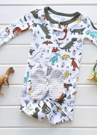Хлопковая пижама слип carters, 3т