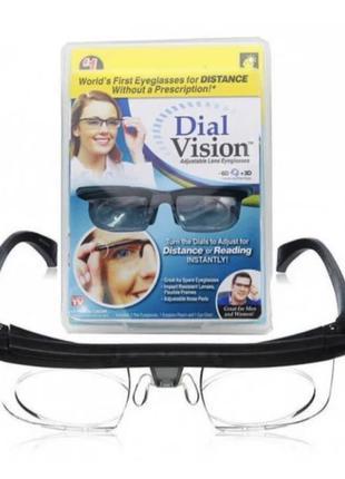 ТОП ПРОДАЖ!!Очки универсальные для зрения Dial Vision с регулиров