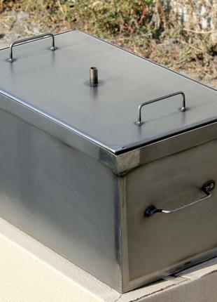 Коптильня с гидрозатвором для горячего копчения окрашенная (52...