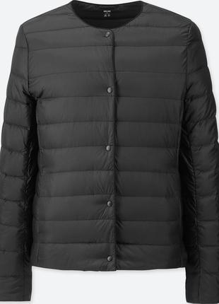 Женская легкая пуховая куртка короткий пуховик uniqlo