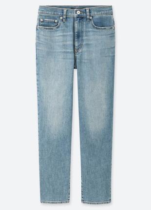 Женские джинсы uniqlo в классическом стиле с прямым силуэтом