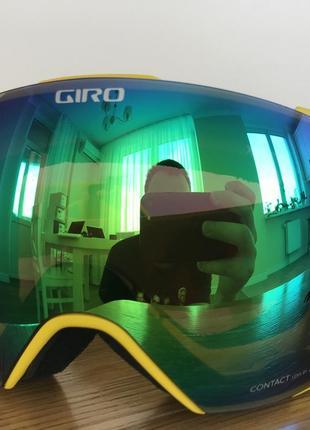 Топовая горнолыжная маска giro (в комплекте 2 линзы zeiss)