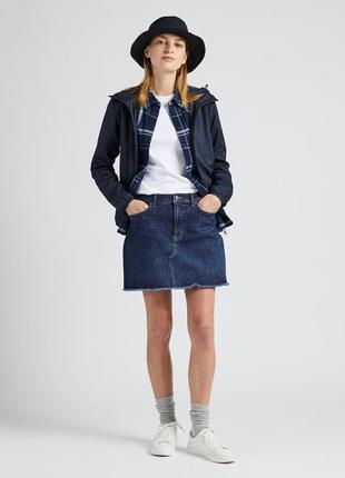 Короткая джинсовая мини юбка uniqlo