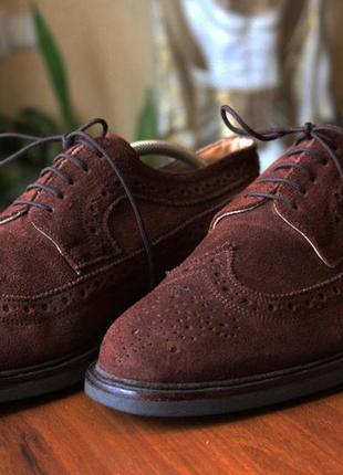 Итальянские туфли Натуральная кожа 44р Мужские броги Ко...