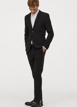 Черный пиджак h&m , skinny fit !