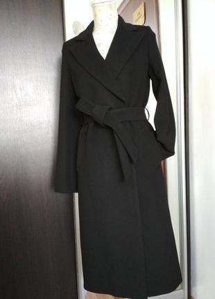Модное осеннее пальто season черного цвета