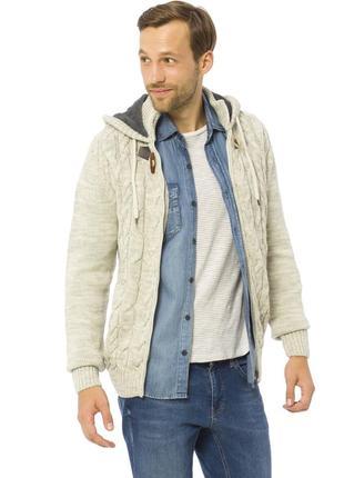 Бежевая мужская кофта lc waikiki / лс вайкики с флисовым капюш...
