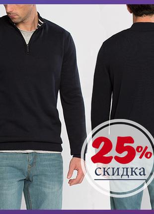 Черный мужской свитер lc waikiki / лс вайкики с воротником-стойка