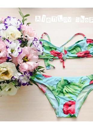 Цветастый купальник с розами от asos swim