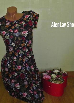 Акция!новое красивое фирменное мини платье сарафан с цветочным...