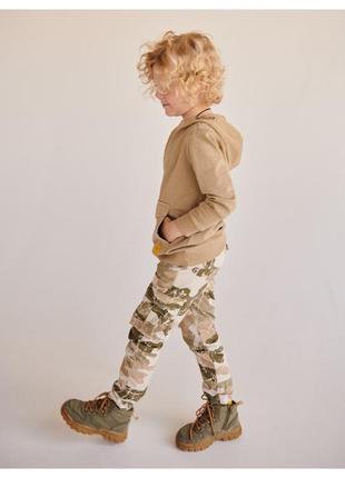 Карго штаны с карманами, камуфляжные