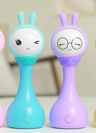 Умная интерактивная музыкальная погремушка игрушка - Умный Зайка