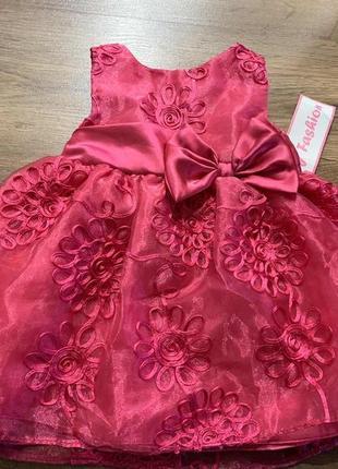 Нарядное платье для девочки 9 мес