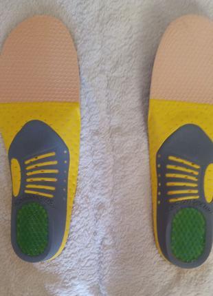 Ортопедические стельки из ПВХ 41-46р для мужской спортивной обуви